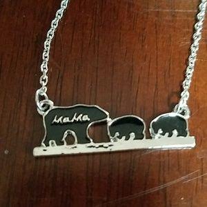 New mama bear necklace